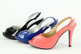 Lady colorful shoes — Stock Photo