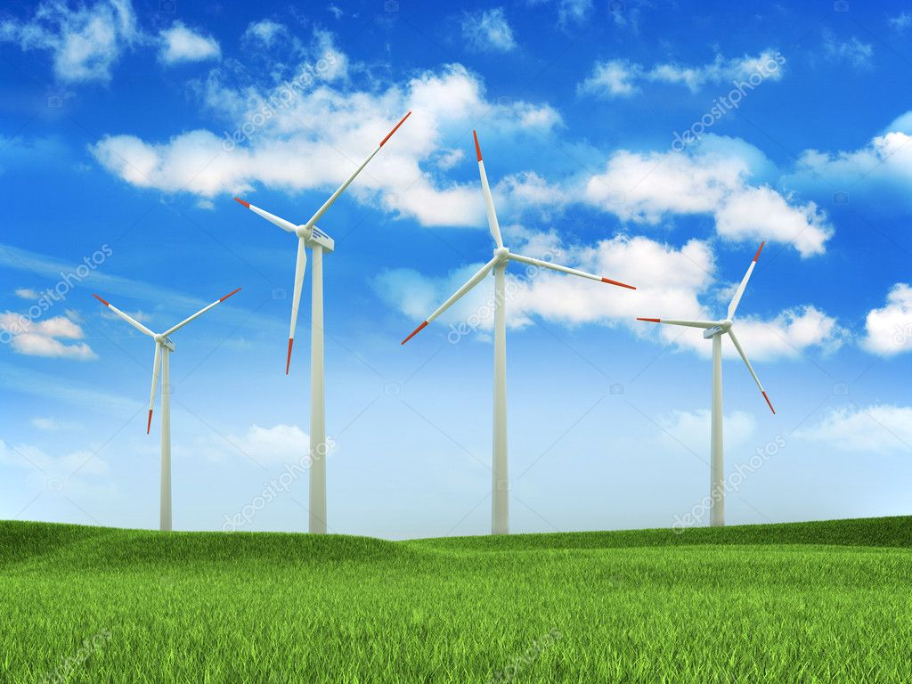 Wind turbine farm  Foto Stock #10930892