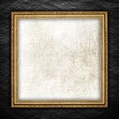 Vorlage Hintergrund - rauhe Wand und Bilderrahmen — Stockfoto