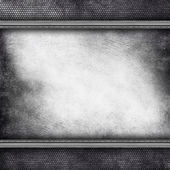 Grunge scratched wall and metal grill background — Stock Photo