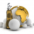 Golf equipment - concept illustration — Stock Photo