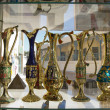 Egyptian vases are on the showcase in gift shop — Stock Photo #11595646