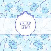 Blue Vintage Background — Vector de stock