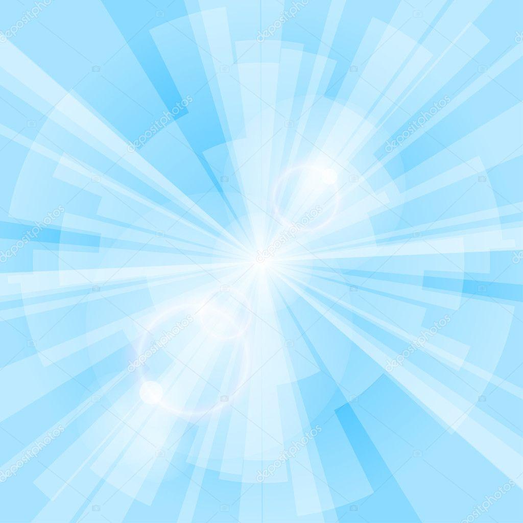 Blue Rays Background — Stock Vector © Roman_Volkov #11390609