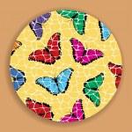 Vintage Mosaic Butterflies — Stock Vector #11545082