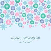 Blauwe bloemen achtergrond — Stockvector
