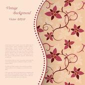 Floral Vintage Background — Stock Vector