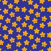 Cartoon Stars Seamless Pattern — Stock Vector