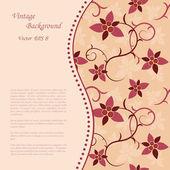 花のビンテージ背景 — ストックベクタ