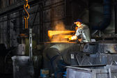 In a steel mill — Stock Photo