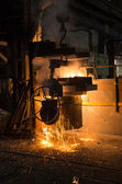 In a steel mill — Foto de Stock