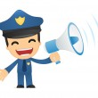 Funny cartoon policeman — Stock Vector #10924557