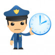 Funny cartoon policeman — Stockvektor