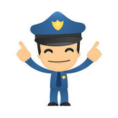 Funny cartoon policeman — ストックベクタ