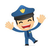 Funny cartoon policeman — 图库矢量图片