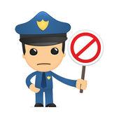 Funny cartoon policeman — Stock Vector