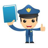 Policía de divertidos dibujos animados — Vector de stock
