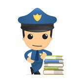 Lustige cartoon-polizisten — Stockvektor