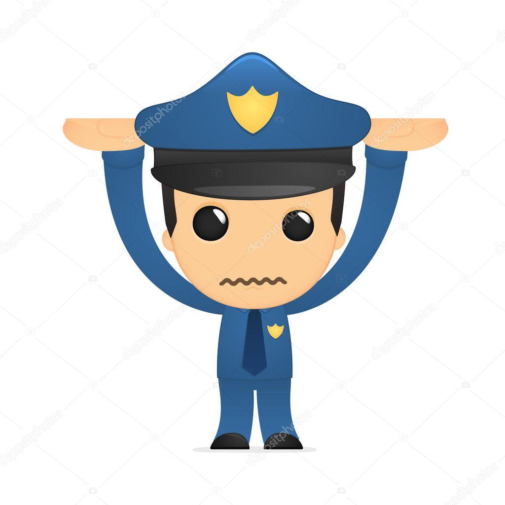 可爱的卡通警察 — 图库矢量图像08
