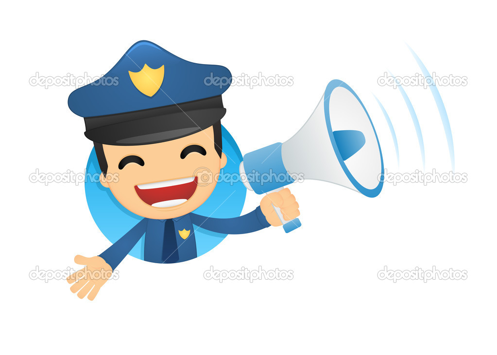 Funny cartoon policeman in various poses for use in advertising, presentations, brochures, blogs, documents and forms, etc.  Stock Vector #10924577