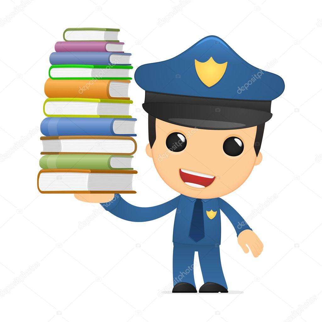 Policía de divertidos dibujos animados — Vector de stock © artenot ...