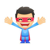 Funny cartoon superhero — Stock Vector