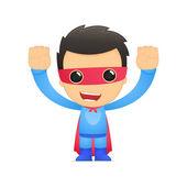 Funny cartoon superhero — Stockvektor