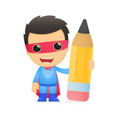 Rolig tecknad superhjälte — Stockvektor
