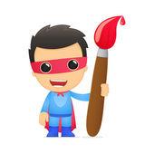 Super-herói de desenho animado — Vetor de Stock