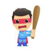 Funny cartoon superhero — Stock Vector