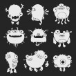 Funny monsters — Stockvectorbeeld