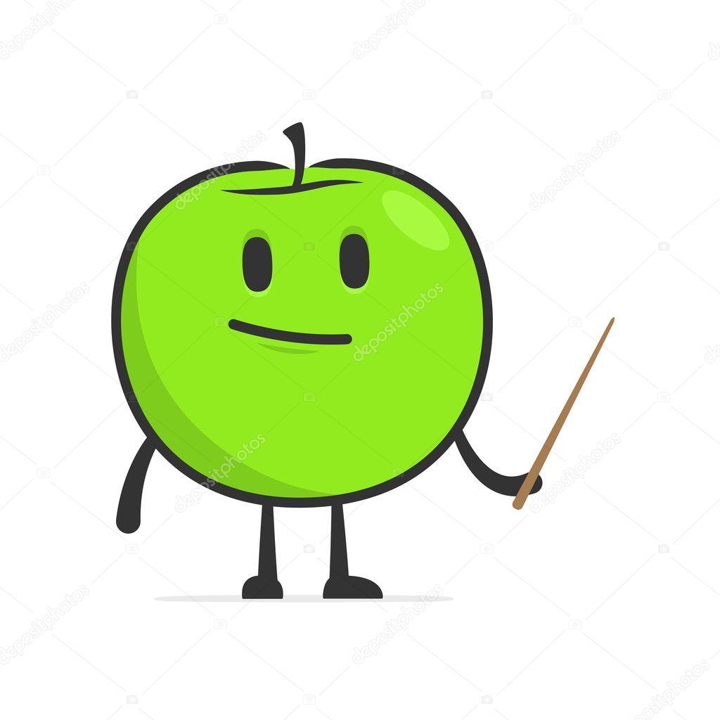 可爱的卡通苹果 — 图库矢量图像08