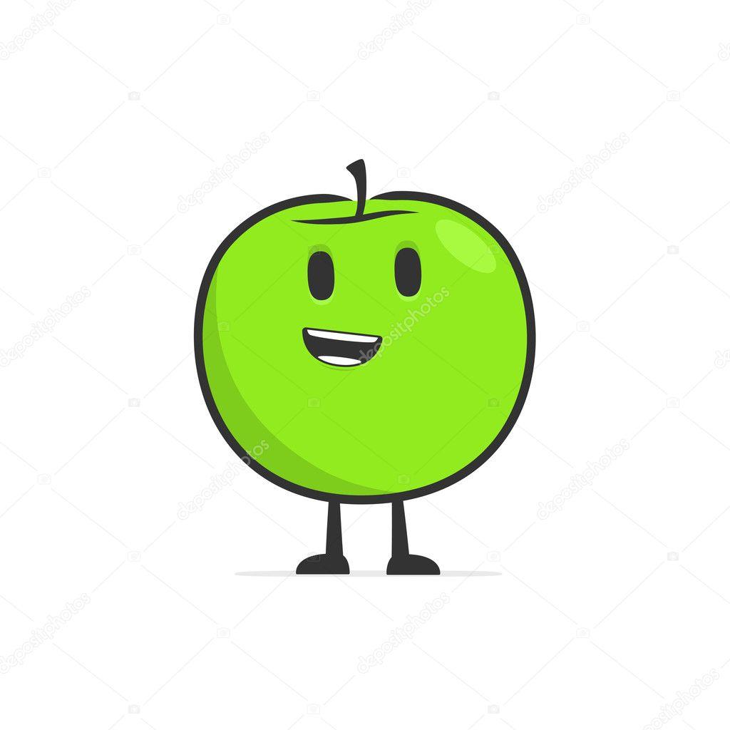 可爱的卡通苹果 — 图库矢量图片
