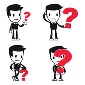 Funny cartoon helper man — Stock Vector
