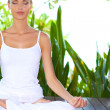 Serene woman meditating — Stock Photo #10863090