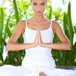 Woman practising yoga — Stock Photo #10863121