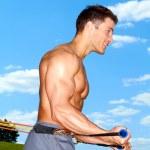parkta egzersiz — Stok fotoğraf