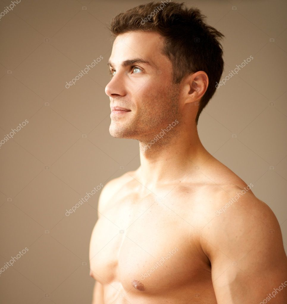 Close up of good looking male looking on his right — Stock Photo #11134067
