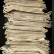 Stack of old newspapers — Stock Photo