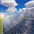 Stock Photo: Solar power station - photovoltaics