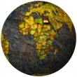 Egypt flag on globe map — Stock fotografie