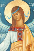 Angel on orthodox icon — Stock Photo
