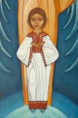 Small jesus on orthodox icon — Stock Photo