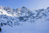 Polish Tatras in winter scenery — Foto Stock