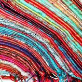 Shawls and scarves folded — Stock Photo