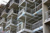 Scaffolding in construction site — Stock Photo