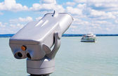 Telescope at Lake Balaton in summer time,Hungary — Stock Photo