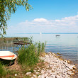 Stock Photo: Angler boat at Lake Balaton, Hungary