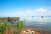 Angler pier at Lake Balaton, Hungary — Stock Photo