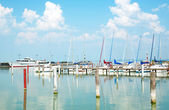 Sailing harbor in Badacsony at Lake Balaton,Hungary — Stock Photo